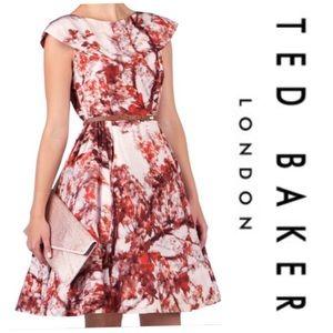 Ted Baker Barish Cherry Blossom Silk Dress